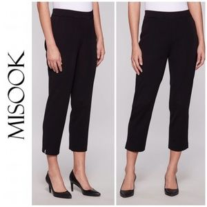 Misook Pull On Stretch Knit Crop Ankle Pants M